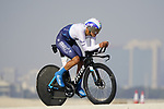 Omer Goldstein (ISR) Israel Start-Up Nation during Stage 2 of the 2021 UAE Tour an individual time trial running 13km around  Al Hudayriyat Island, Abu Dhabi, UAE. 22nd February 2021.  <br /> Picture: Eoin Clarke | Cyclefile<br /> <br /> All photos usage must carry mandatory copyright credit (© Cyclefile | Eoin Clarke)