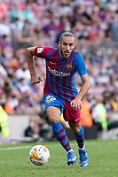 26th September 2021;   Nou Camp, Barcelona, Spain: La Liga football, FC Barcelona versus Levante: Mingueza  Barcelona player
