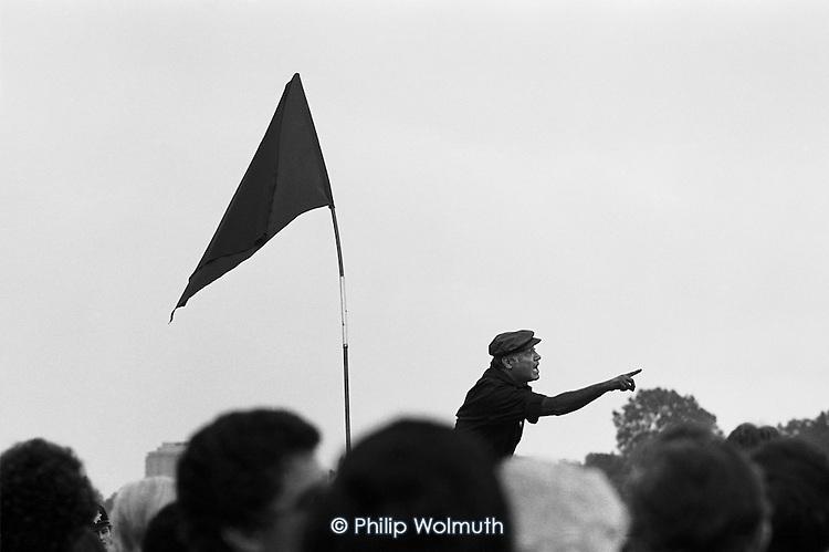 Peter Bhalla, Speakers Corner, Hyde Park, London; October 1978.