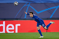 April 27th 2021; Alfredo Di Stefano Stadium, Madrid, Spain;  Ben Chilwell of Chelsea FC during the Champions League match, semifinals between Real Madrid and Chelsea FC played at Alfredo Di Stefano Stadium