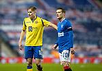 Rangers v St Johnstone…03.02.21   Ibrox   SPFL<br />Ali McCann and Steven Davis<br />Picture by Graeme Hart.<br />Copyright Perthshire Picture Agency<br />Tel: 01738 623350  Mobile: 07990 594431
