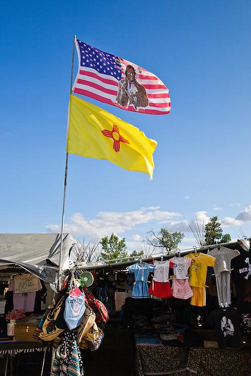 A vendor booth a Crow Fair.