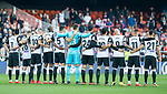 Valencia CF players form a line prior to the La Liga 2017-18 match between Valencia CF and Villarreal CF at Estadio de Mestalla on 23 December 2017 in Valencia, Spain. Photo by Maria Jose Segovia Carmona / Power Sport Images