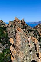 Felsen Les Calanche de Piana, Korsika, Frankreich, Unesco-Weltkulturerbe Welt-Naturbe