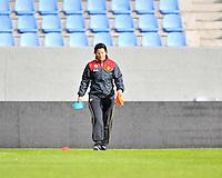 Iceland : UEFA Women's Euro Qualifying group stage (Group 3) - 21/09/2011 - 21:30CET (19:30 local time) - Laugardalsvöllur - Reykjavik : ICELAND (ijsland) - BELGIUM ( Belgie) : Tamara Cassimon met de voorbereiding op de training..foto DAVID CATRY / Vrouwenteam.be