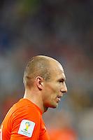 Arjen Robben of the Netherlands in the rain