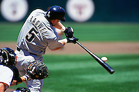 SAN FRANCISCO, CA - Jeff Bagwell of the Houston Astros bats against the San Francisco Giants during a game at Candlestick Park in San Francisco, California on May 22, 1999. Photo by Brad Mangin
