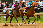 LOUISVILLE, KENTUCKY,  MAY 04: Monomy Girl, #, ridden by Florent Geroux , wins the Longines Kentucky Oaks on Kentucky Oaks at Churchill Downs on May 4, 2018 in Louisville, Kentucky. ( Photo by Sue Kawczynski/Eclipse Sportswire/Getty Images)