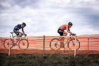 Ryan Kamp (NED) and Antoine Benoist (FRA)<br /> <br /> Men's U23 race<br /> UCI 2020 Cyclocross World Championships<br /> Dübendorf / Switzerland<br /> <br /> ©kramon