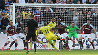 Yoane Wissa scores Brentford's second goal during West Ham United vs Brentford, Premier League Football at The London Stadium on 3rd October 2021