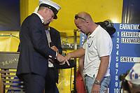 ZEILSPORT: GROU: 03-08-2018, Loting SKS Skûtsjesilen, Rinus de Jong schipper Joure, ©foto Martin de Jong