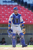 Tyler Ogle #24 of the Rancho Cucamonga Quakes during a game against the High Desert Mavericks at Stater Bros. Stadium on May 27, 2014 in Adelanto, California. High Desert defeated Rancho Cucamonga, 5-4. (Larry Goren/Four Seam Images)