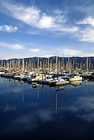 SAILBOATS at anchor - SANTA BARBARA HARBOUR