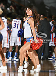 A Texas-Arlington Mavericks dancer in action during the game between the McNeese State Cowboys and the UTA Mavericks held at the University of Texas at Arlington's, Texas Hall, in Arlington, Texas.  McNeese State defeats UTA 81 to 72.