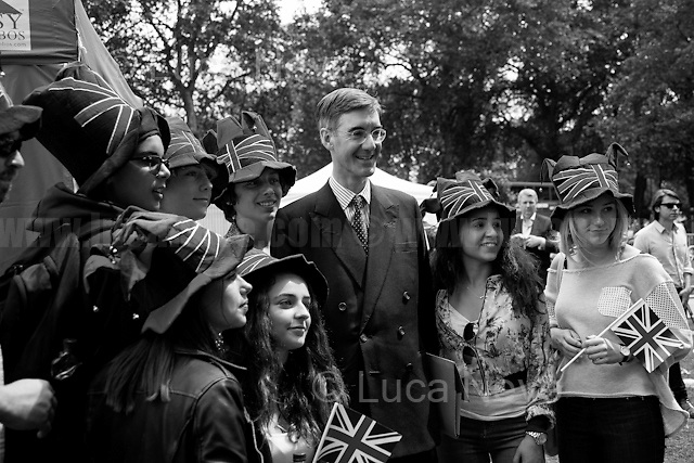 """Jacob Rees-Mogg (British Conservative Party politician, Member of Parliament for North East Somerset; he is on the Eurosceptic wing of the Conservative Party).<br /> <br /> 24.06.2016 - """"Faces From College Green (Part 2), Parliament Sq, WhiteHall"""".<br /> <br /> London, March-July 2016. Reporting the EU Referendum 2016 (Campaign, result and outcomes) observed through the eyes (and the lenses) of an Italian freelance photojournalist (UK and IFJ Press Cards holder) based in the British Capital with no """"press accreditation"""" and no timetable of the main political parties' events in support of the RemaIN Campaign or the Leave the EU Campaign.<br /> On the 23rd of June 2016 the British people voted in the EU Referendum... (Please find the caption on PDF at the beginning of the Reportage).<br /> <br /> For more photos and information about this event please click here: http://lucaneve.photoshelter.com/gallery/Faces-From-College-Green-Part-2-Parliament-Sq-WhiteHall/G0000EdpxLbG0I3k/C0000LiS.GOfEuNk<br /> <br /> For more information about the result please click here: http://www.bbc.co.uk/news/politics/eu_referendum/results"""
