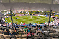 A general view from the NZ Cricket Museum Stand during day two of the second International Test Cricket match between the New Zealand Black Caps and West Indies at the Basin Reserve in Wellington, New Zealand on Friday, 11 December 2020. Photo: Dave Lintott / lintottphoto.co.nz