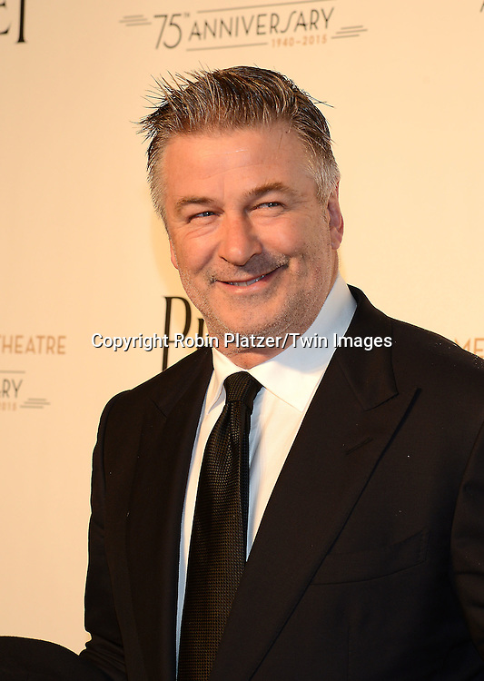 Alec Baldwin attend the Opening Night of American Ballet Theatre 2014 Fall Gala on October 22,2014 at the David Koch Theater at Lincoln Center in New York City. <br /> <br /> photo by Robin Platzer/Twin Images<br />  <br /> phone number 212-935-0770