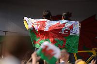 Tour de France 2018 winner Geraint Thomas  Homecoming celebration outside Cardiff Castle.  <br /> <br /> Cardiff - Wales - UK - 9th Aug 2018
