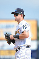 Trenton Thunder infielder Tyler Austin (17) during game against the Binghamton Mets at ARM & HAMMER Park on July 27, 2014 in Trenton, NJ.  Trenton defeated Binghamton 7-3.  (Tomasso DeRosa/Four Seam Images)