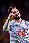 Isco Alarcon of Spain celebrating his score during the International Friendly 2018 match between Spain and Argentina at Wanda Metropolitano Stadium on 27 March 2018 in Madrid, Spain. Photo by Diego Souto / Power Sport Images