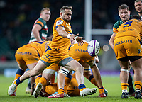 21st May 2021; Twickenham, London, England; European Rugby Challenge Cup Final, Leicester Tigers versus Montpellier; Corbus Reinach of Montpellier Rugby clears the ball