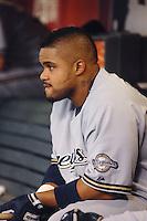 Aug 21, 2007; Phoenix, AZ, USA; Milwaukee Brewers first baseman (28) Prince Fielder against the Arizona Diamondbacks at Chase Field. Mandatory Credit: Mark J. Rebilas-US PRESSWIRE Copyright © 2007 Mark J. Rebilas