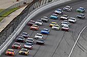 #42: Kyle Larson, Chip Ganassi Racing, Chevrolet Camaro McDonald's and #20: Erik Jones, Joe Gibbs Racing, Toyota Camry DeWalt