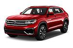 2021 Volkswagen Atlas-Cross-Sport SEL-R-Line 5 Door SUV Angular Front automotive stock photos of front three quarter view