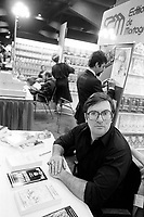 Undated file photo File photo. <br /> <br /> Andre Moreau (aka le jovialiste)  at Montreal's book fair in the 1970's<br /> <br /> Photo : AQP - Alain Renaud