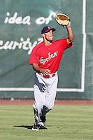 Spokane Indians outfielder Zach Cone #32 before game against the Salem-Keizer Valcanoes at Valcanoes Stadium on August 10, 2011 in Salem-Keizer,Oregon. Salem-Keizer defeated Spokane 7-6.(Larry Goren/Four Seam Images)