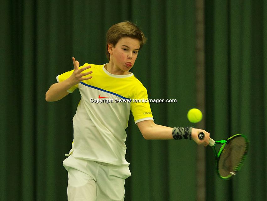 Rotterdam, The Netherlands, March 18, 2016,  TV Victoria, NOJK 14/18 years, Daan van Dijk (NED)<br /> Photo: Tennisimages/Henk Koster