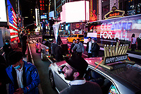 NEW YORK, NEW YORK - DECEMBER 14: Young Orthodox Jews celebrate in Times Square on December 14, 2020 in New York City. Although many holiday party events were canceled due to the coronavirus or the Covid-19 pandemic, many people take to the streets to enjoy Hanukkah that began on the night of Thursday, December 10 and ends on the night of Friday, December 18 (Photo by Pablo Monsalve / VIEWpress via Getty Images)