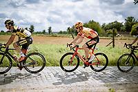 Kristian Kulset (NOR/Uno-X) as part of the breakaway group<br /> <br /> Grote Prijs Marcel Kint 2021<br /> One day race from Zwevegem to Kortrijk (196km)<br /> <br /> ©kramon