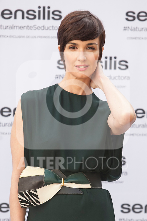 Spanish actress Paz Vega attends a promotional event in Madrid, Spain. February 05, 2015. (ALTERPHOTOS/Victor Blanco)