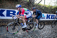 Anthony Turgis (FRA/Total - Direct Energie) up the Koppenberg<br /> <br /> 104th Ronde van Vlaanderen 2020 (1.UWT)<br /> 1 day race from Antwerpen to Oudenaarde (BEL/243km) <br /> <br /> ©kramon