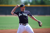 Seattle Mariners Joe DeCarlo (6) during an instructional league game against the Texas Rangers on October 5, 2015 at the Surprise Stadium Training Complex in Surprise, Arizona.  (Mike Janes/Four Seam Images)