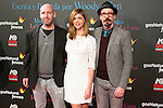 "Jaime Balaguero, Manuela Velasco and Fele Martinez attend the Premiere of the movie ""Magic in the Moonlight"" at callao Cinema in Madrid, Spain. December 2, 2014. (ALTERPHOTOS/Carlos Dafonte)"