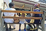 Women & Child On Bench, Downtown Harare