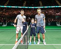 ABN AMRO World Tennis Tournament, Rotterdam, The Netherlands, 16 Februari, 2017, Denis Istomin (UZB), Grigor Dimitrov (BUL)<br /> Photo: Henk Koster