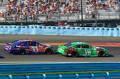 #18: Kyle Busch, Joe Gibbs Racing, Toyota Camry M&M's Flavor Vote Winner, #11: Denny Hamlin, Joe Gibbs Racing, Toyota Camry FedEx Ground