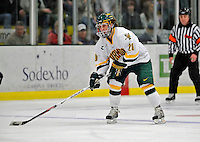 16 February 2008: University of Vermont Catamounts' forward Reese Wisnowski, a Senior from East Middlebury, VT, in action against the Merrimack College Warriors at Gutterson Fieldhouse in Burlington, Vermont. The Catamounts defeated the Warriors 2-1 for their second win of the 2-game weekend series...Mandatory Photo Credit: Ed Wolfstein Photo