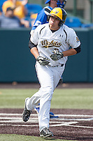 Cody Bobbit (6) in action during the NCAA matchup between the Indiana State Sycamores and the Wichita State Shockers at Eck Stadium on April 6th, 2012 in Wichita, Kansas. The Shockers defeated the Sycamores 11-3. (William Purnell/Four Seam Images)