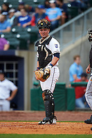 NW Arkansas Naturals catcher Zane Evans (30) during a game against the San Antonio Missions on May 30, 2015 at Arvest Ballpark in Springdale, Arkansas.  San Antonio defeated NW Arkansas 5-1.  (Mike Janes/Four Seam Images)