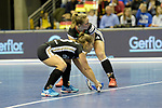 Berlin, Germany, February 10: During the FIH Indoor Hockey World Cup quarterfinal match between Germany (black) and Poland (red) on February 10, 2018 at Max-Schmeling-Halle in Berlin, Germany. Final score 3-1. (Photo by Dirk Markgraf / www.265-images.com) *** Local caption *** Nike LORENZ #4 of Germany