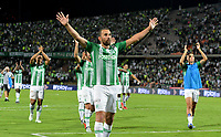 MEDELLÍN-COLOMBIA, 27-04-2019: Jugadores de Atlético Nacional, se retiran del campo al final del partido de la fecha 16 entre Atlético Nacional y América de Cali, por la Liga Águila I-2019, jugado en el estadio Atanasio Girardot de la ciudad de Medellín. / Players of Atletico Nacional, leave the field at the end of a match of the 16th date between Atletico Nacional and America de Cali, for the Aguila Leguaje I-2019 played at the Atanasio Girardot Stadium in Medellin city. / Photo: VizzorImage / León Monsalve / Cont.