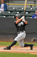 Lansing Lugnuts left fielder Nick Sinay (3) swings during a game against the Clinton LumberKings at Ashford University Field on May 9, 2017 in Clinton, Iowa.  The Lugnuts won 11-6.  (Dennis Hubbard/Four Seam Images)