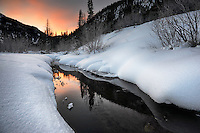 January dawn in the Uinta Mountains, Utah.