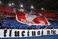 28th September 2021, Parc des Princes, Paris, France: Champions league football, Paris-Saint-Germain versus Manchester City:  PSG fans display a banner