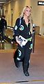 Singer Kaci Battaglia arrives at Narita Airport