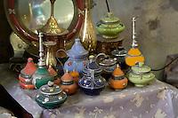 Tripoli, Libya - Antique Metal Ware, Glassware, Mirror, Tripoli Medina Copper Market
